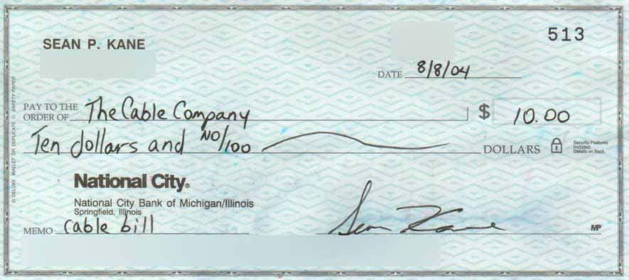 how to write a check for 1000 dollars